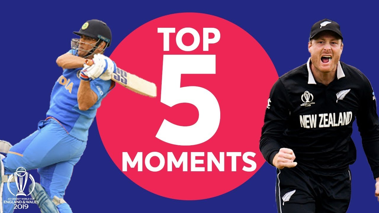 Guptill? Neesham? | India v New Zealand - Top 5 Moments | ICC Cricket World Cup 2019