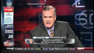 Matt Millen breaks down when discussing Penn State
