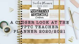 A closer look at the brand new 2020-2021 TPTC teacher planner.