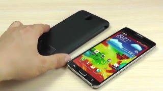 ОБЗОР: Усиленный Чехол-Аккумулятор для Samsung Galaxy Note 3 GT-N9000 в виде Книжки (3800 mAh)
