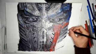 How to Draw - Transformers 5 Teaser - Optimus Prime [Speed drawing]