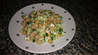 Полезный салат с нутом Домашний ресторан Juliaidea