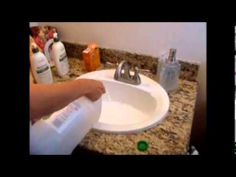 Cleaning with vinegar and baking soda making volcanoes - How to clean bathroom sink drain ...
