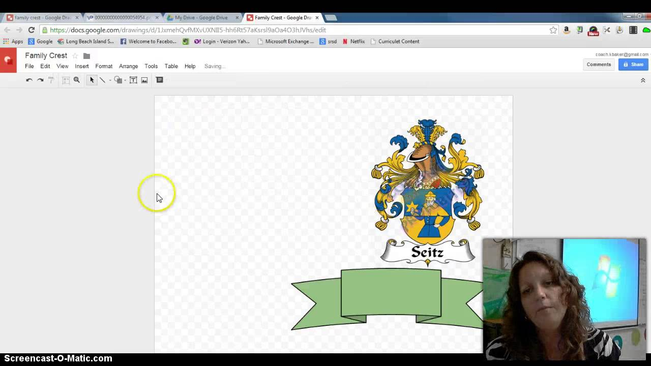 How to Create a Family Crest Using Google Draw