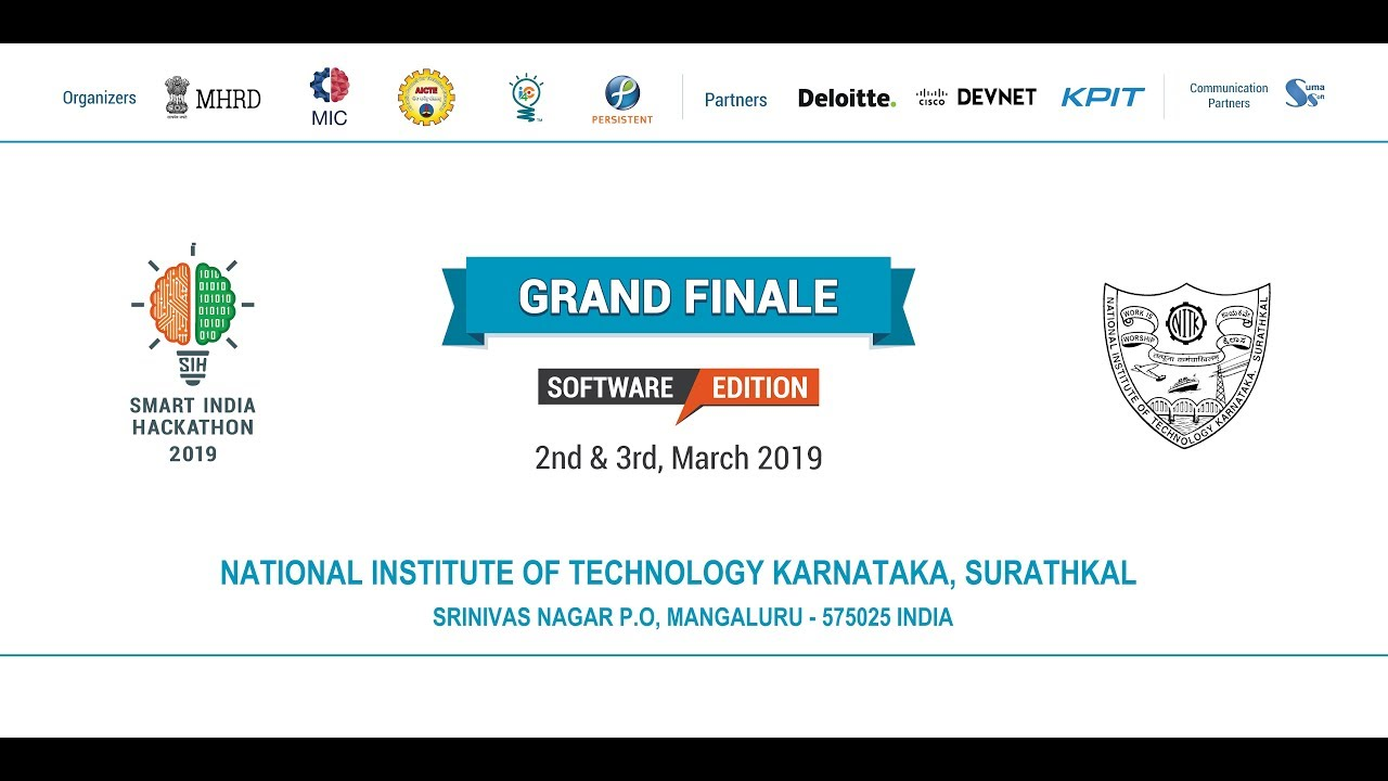 Smart India Hackathon-2019 Coding-2 - YouTube