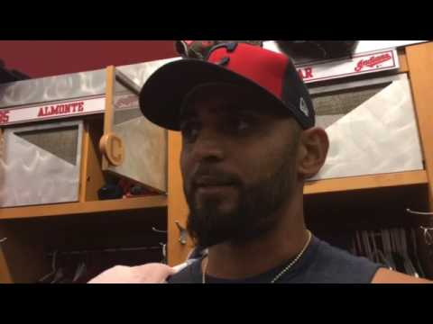 Danny Salazar reviews his first live batting practice session