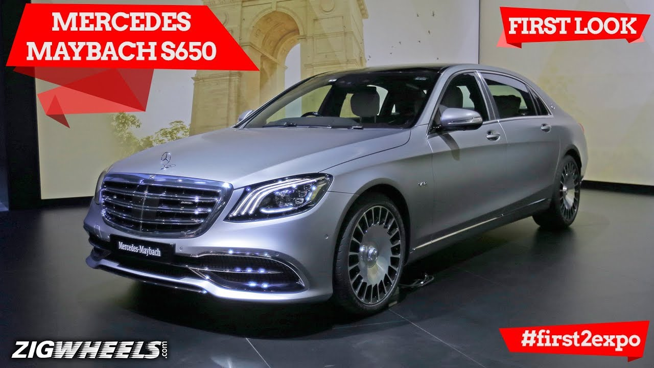 Mercedes Maybach S650 First Look Auto Expo 2018 Zigwheels Com