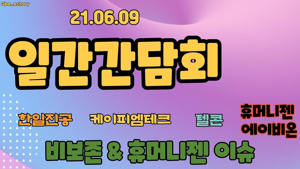 6월9일 일간간담회 - 휴머니젠, 비보존 이슈 (텔콘 케이피엠테크 한일진공 비보존) - Korean Stock Story_honeybee