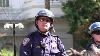 Cops Protect Fascist American Freedom Party (aka American 3rd Position Party) and Hurts Anti-Fascist