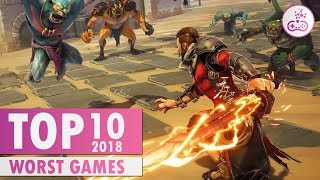 TOP 10 HORRIFYINGLY Worst Games of 2018 |  PS4/XB1/PC/SWITCH