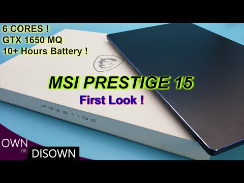 A ROAD WARRIOR's DREAM - MSI PRESTIGE 15 - Indepth First Look Review