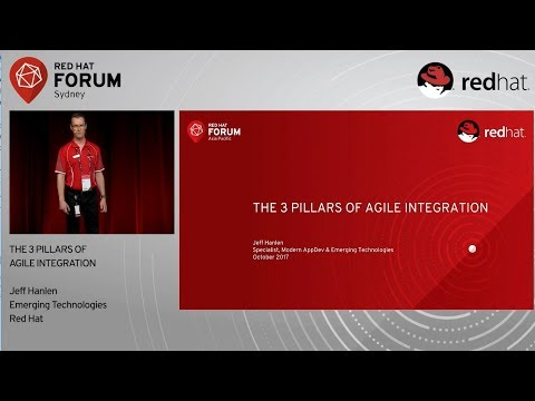 3 Pillar of Agile Integration - Jeff Hanlen at Red Hat Forum Sydney 2017