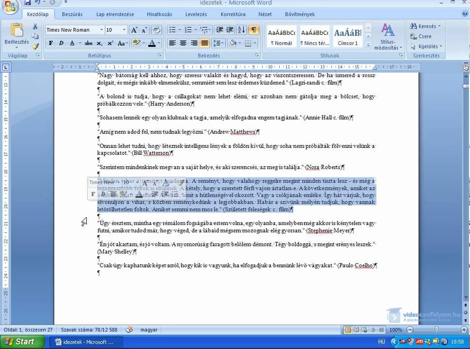 önéletrajz szerkesztése wordben Word 2007: függőleges vonal készítése   YouTube önéletrajz szerkesztése wordben