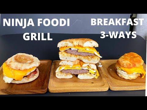 ninja-foodi-grill-breakfast-sandwiches
