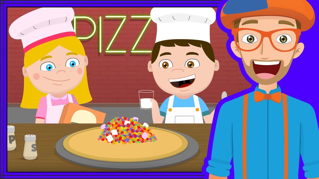 The Pizza Song for Kids and more | Blippi Videos for Toddlers