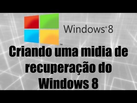 Windows 8 - Criando uma midia de recuperação do Windows 8