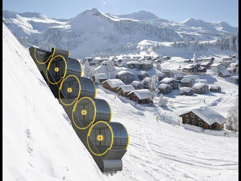 A real time ride up the Worlds steepest funicular at Stoos, Switzerland