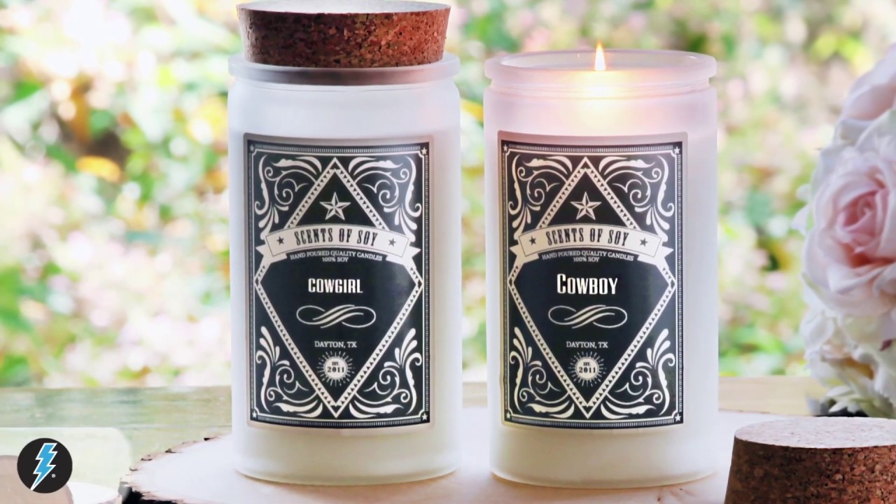 Candle labels label printing lightning labels