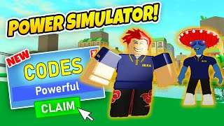16 CODES! ALLE POWER SIMULATOR CODES - Roblox