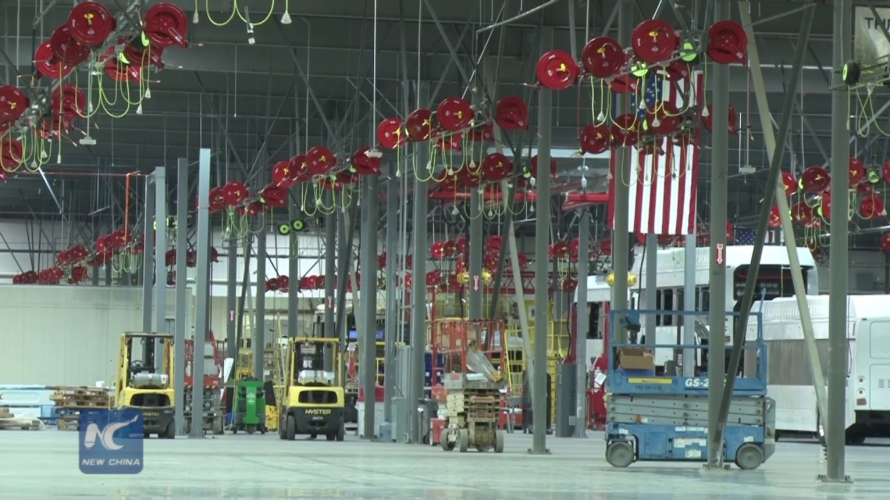 BYD unveils North America's largest electric bus factory