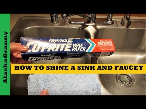 How To Shine Your Sink And Faucet- Easy Clean Sink Cleaning Tip Trick Hack