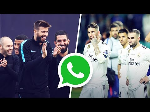 Gerard Pique Created A WhatsApp Group To Trash Real Madrid | Oh My Goal