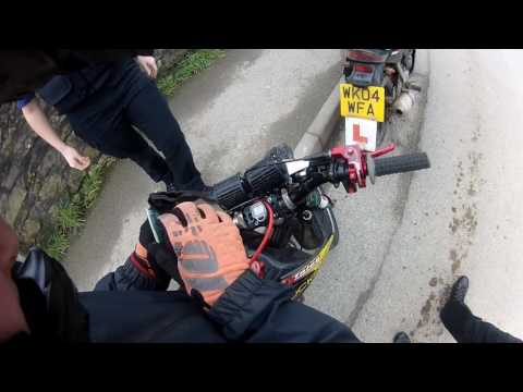 road legal pit bike stopped by police
