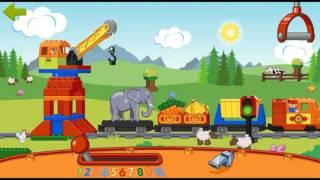 Lego Duplo Train #1 Товарный Поезд для детей Лего игры #мультфильм про транспорт Ура! Мультики!