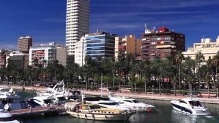 Морской порт города Аликанте, Испания, пристань, лодки, яхты и катера(Город Аликанте Испания, столица провинции и лучший курорт Коста-Бланки http://espana-live.com/alikante.html - отели, авиабил..., 2013-12-29T08:50:34.000Z)