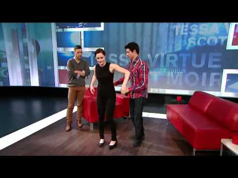 Tessa Virtue And Scott Moir Throw Shapes For Canada Day