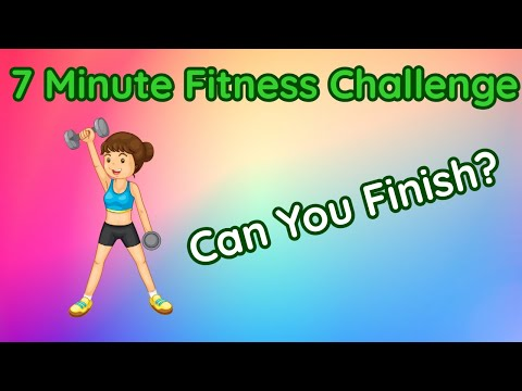 7 Minute Fitness Challenge Fitness Fun At Home For Family and Kids | Physical Education | Play