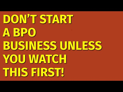 How To Start A BPO Business | Including Free BPO Business Plan Template