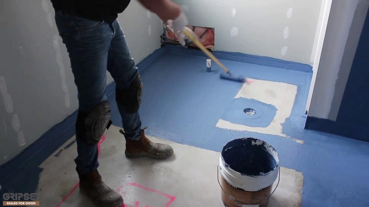 Waterproofing An Internal Wet Area Youtube