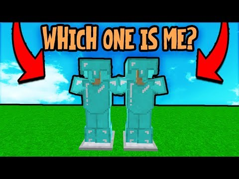 HIDING AS AN ARMOR STAND IN PEOPLES HOUSES! (Minecraft Trolling)