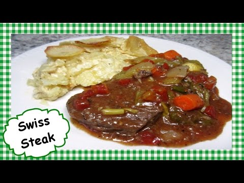 Easy Slow Cooker SWISS STEAK ~ Homemade Swiss Steak Crock Pot Recipe