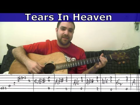 Tutorial: Tears in Heaven - w/ TAB (How to play the entire song)