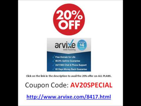 August 2014 Arvixe Web Hosting Coupon