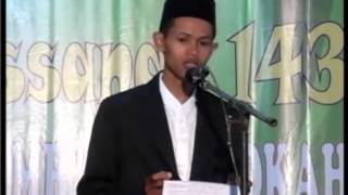 Sambutan Panitia Haflah Akhirussanah 1436 (Bahasa Jawa) PP Mambaul Barokah Kemasan Sawit Boyolali