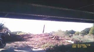 2013,9,20 台風後の桂川サイクリングロード(五条通~八条通)