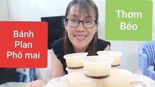 Vlog Ăn Vặt 24 # LÀM BÁNH FLAN PHO MAI NGON BÉO TẠI NHÀ / Vietnamese food.