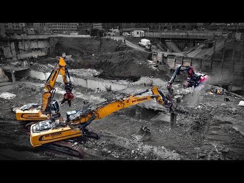Stuttgart 21 = Liebherr Power: R960 Demolition & R946 rocken die Baustelle  | 13.11.17 | #S21