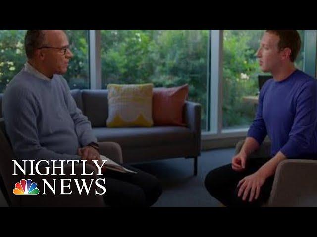 Facebook CEO Mark Zuckerberg Touts New Election Integrity Measures | NBC Nightly News
