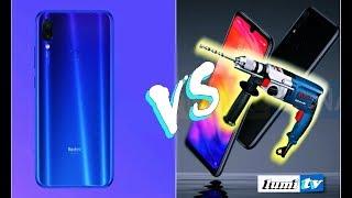 Redmi Note 7 de Xiaomi vs. un taladro