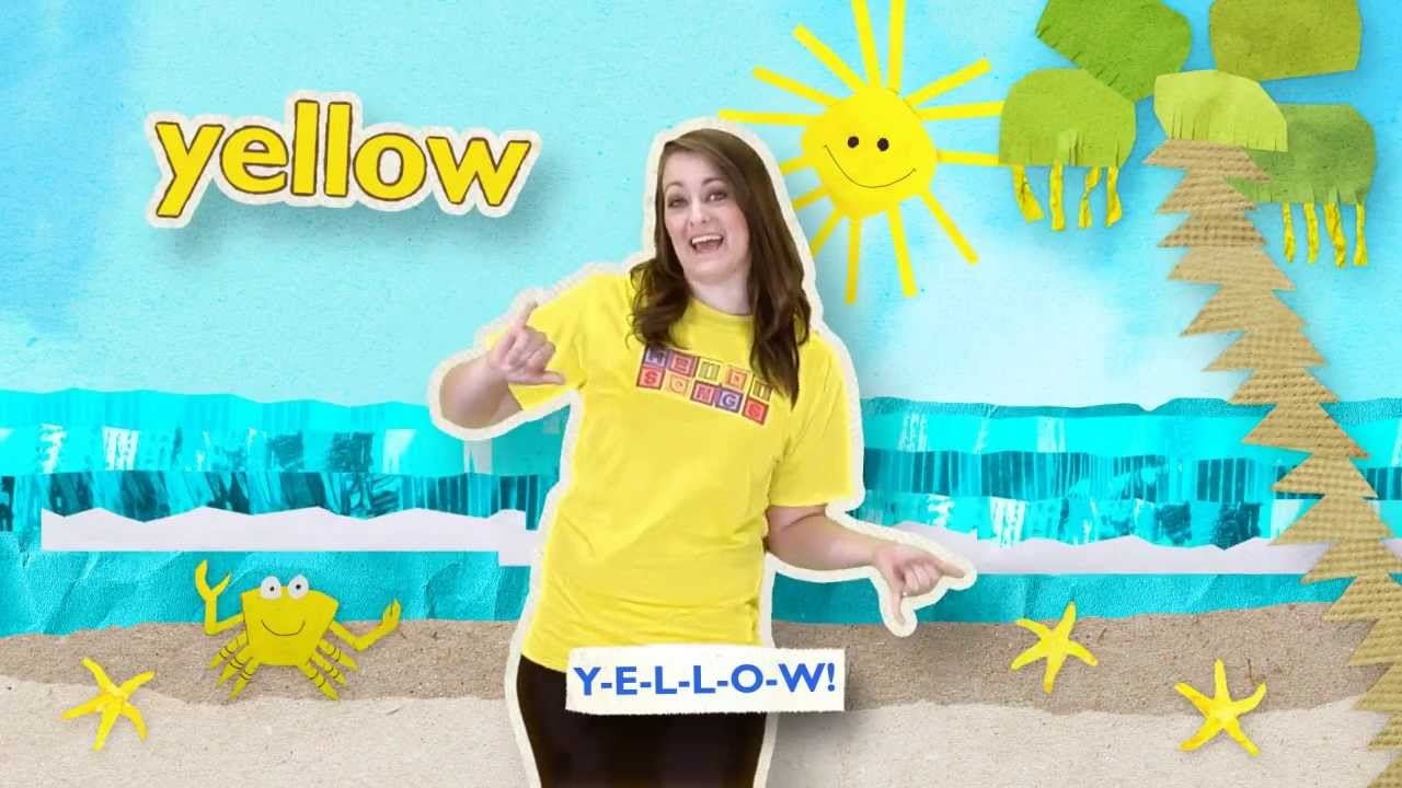 the yellow song heidisongs sing spell colors youtube