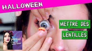 Comment mettre des LENTILLES fantasy: CRASHTEST Primal Contact Lens