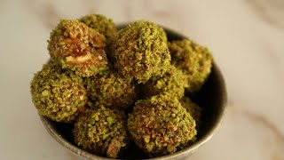 No-Bake Energy Balls with Fig and Cashew Nuts - Episode 498 - Baking with Eda