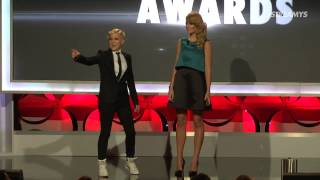 hannah hart and grace helbig opening monologue streamy awards 2014