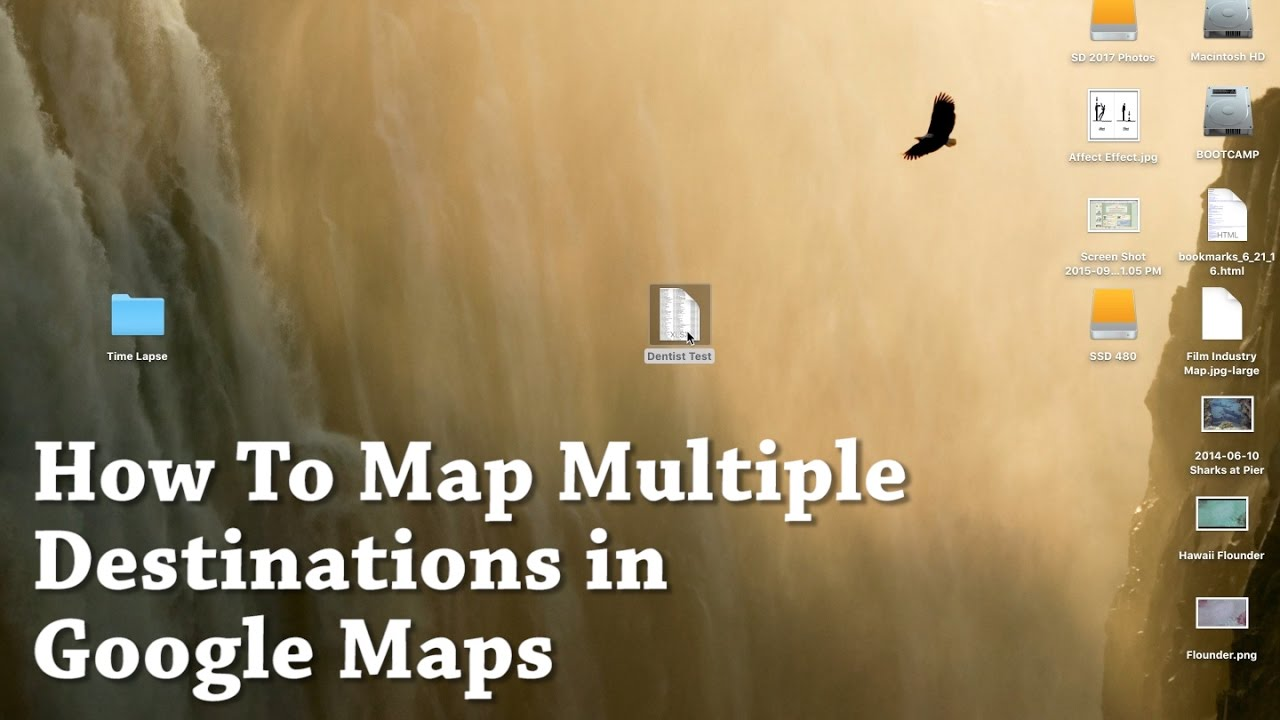 Google Maps How To Map Multiple Destinations Using Excel Import. No ...
