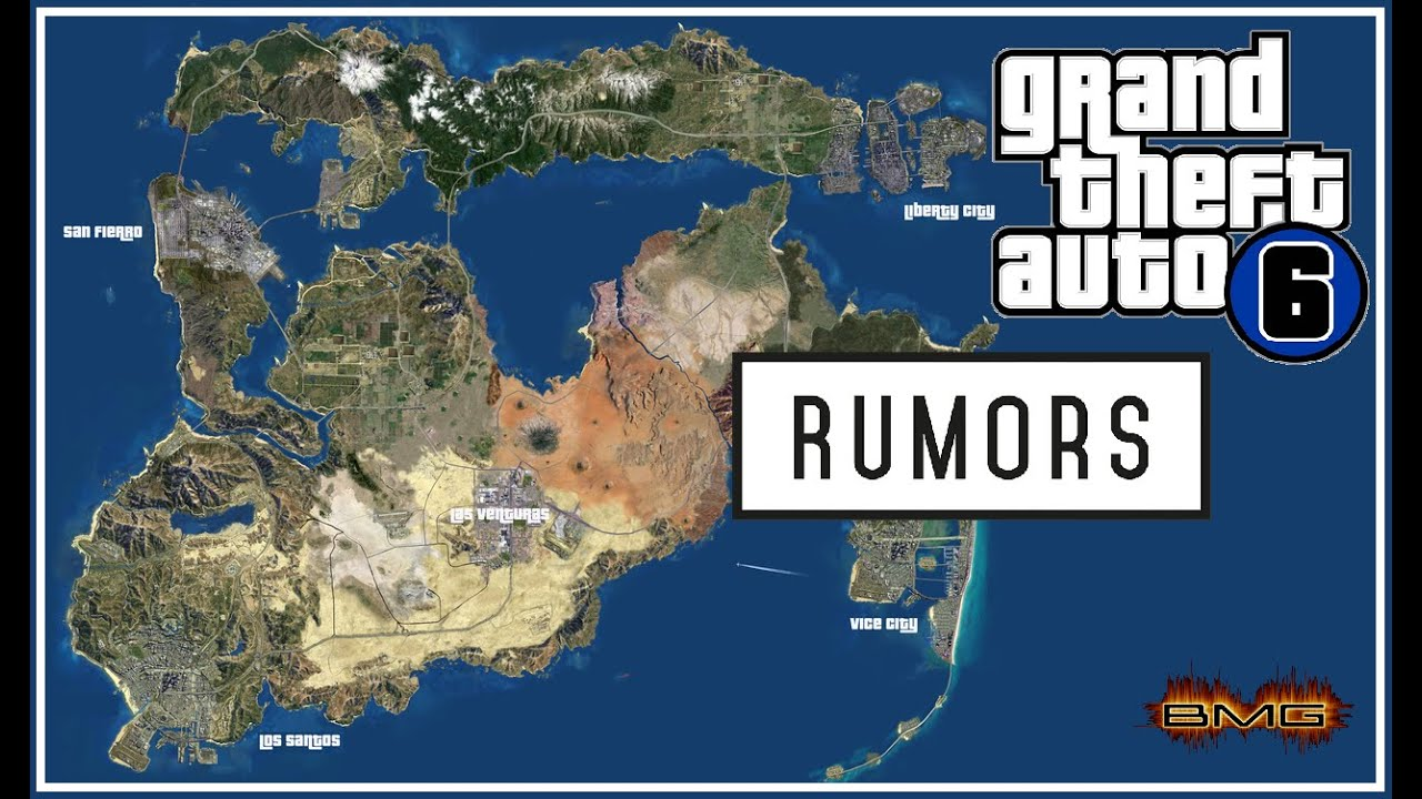 Gta 6 usa map