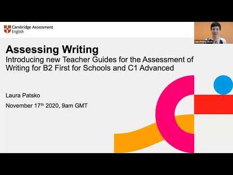 New teacher guides for writing assessment | B2 First for Schools & C1 Advanced | Teacher webinar